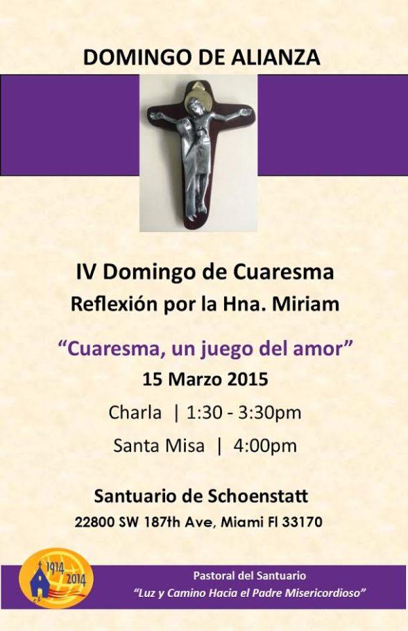 Invitacion Domingo Alianza 15 Marzo 2015