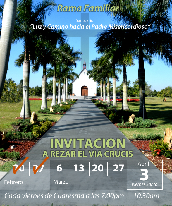 Invitacion a rezar el Via Cruicis