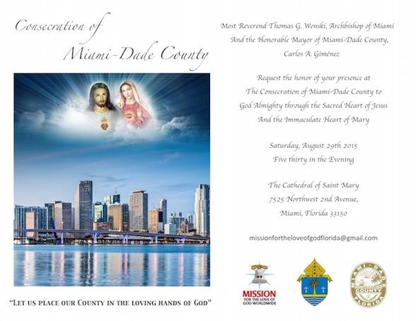 Invitation Consecration Miami-Dade County