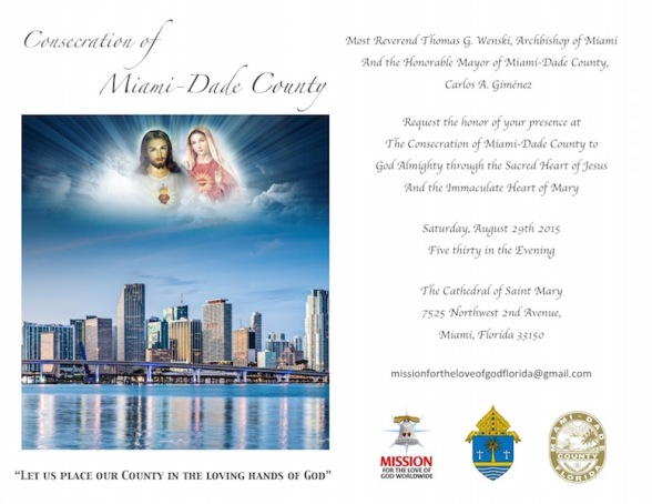 Invitation Consecration Miami-Dade County