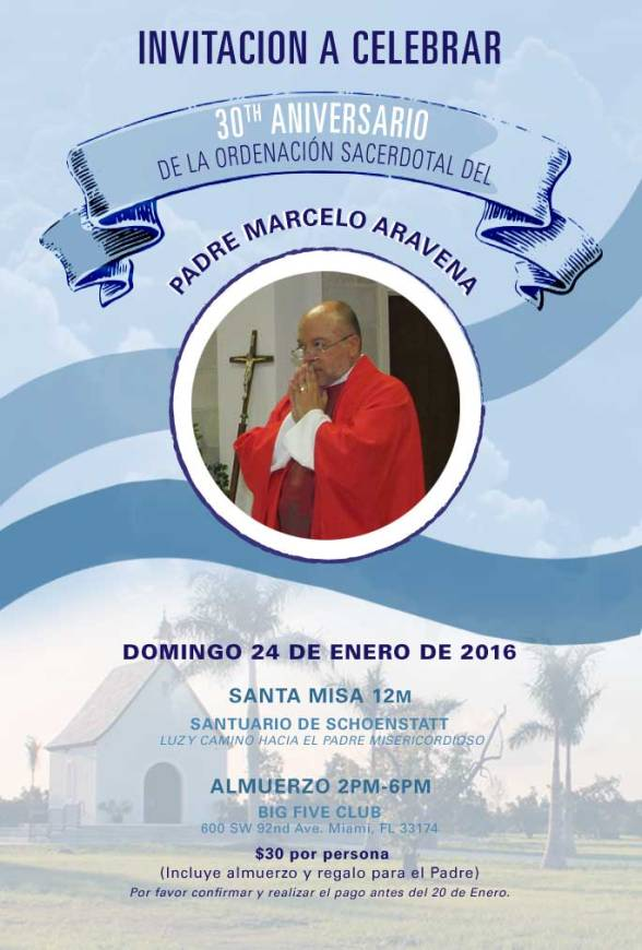 Padre Marcelo 30avo. aniversario ordenación sacerdotal