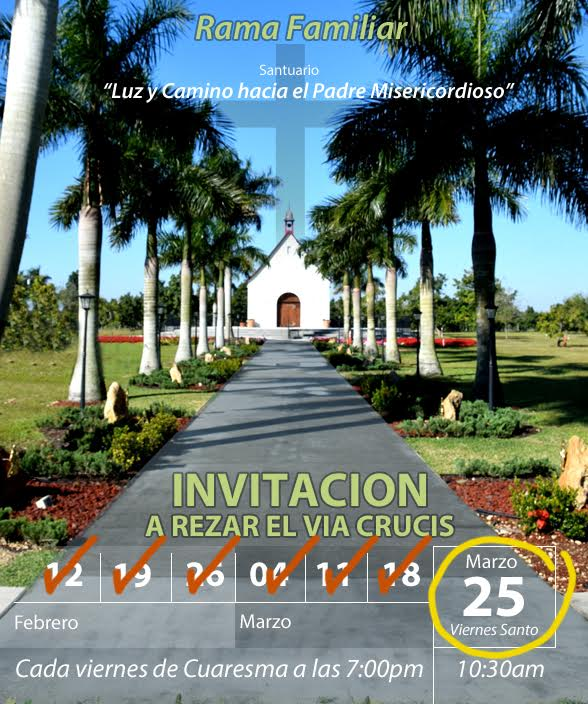 Invitacion Rezar Via Crucis Marzo 25