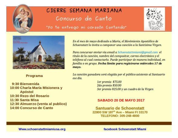 Concurso de canto - Semana Mariana 2017 V2