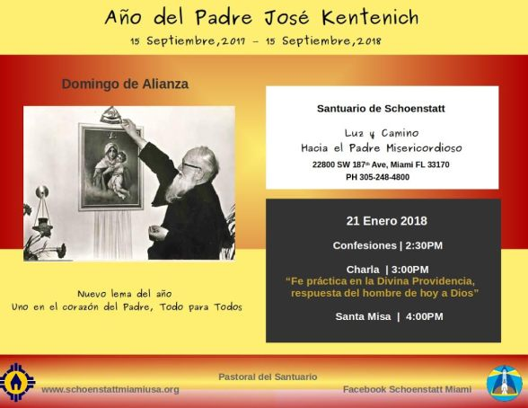 Domingo de Alianza - 21 Enero 2018