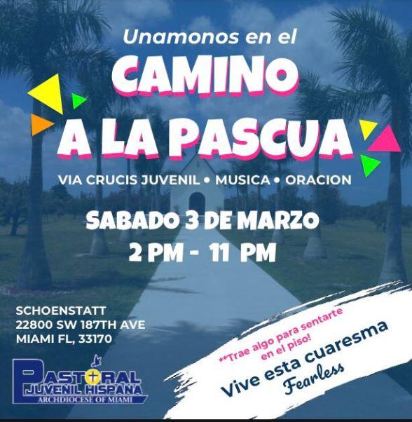 ADOM Pastoral Juvenil Hispana - Camino a La Pascua Flyer 3-03-18.docx