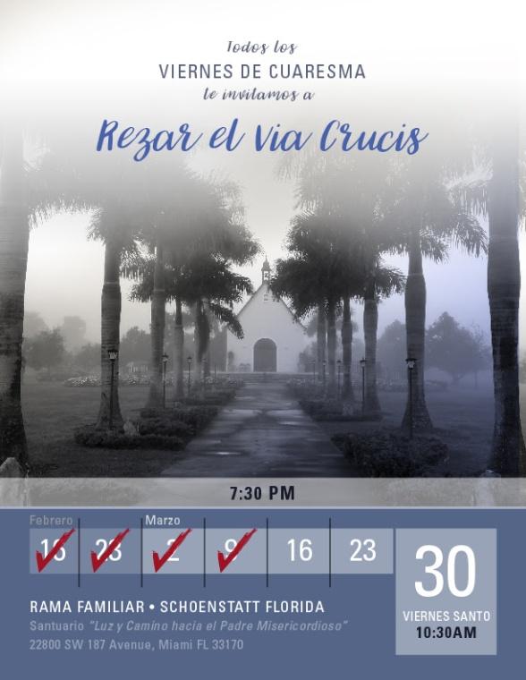 Invitacion a Rezar el Viacrucis - 16 Marzo 2018