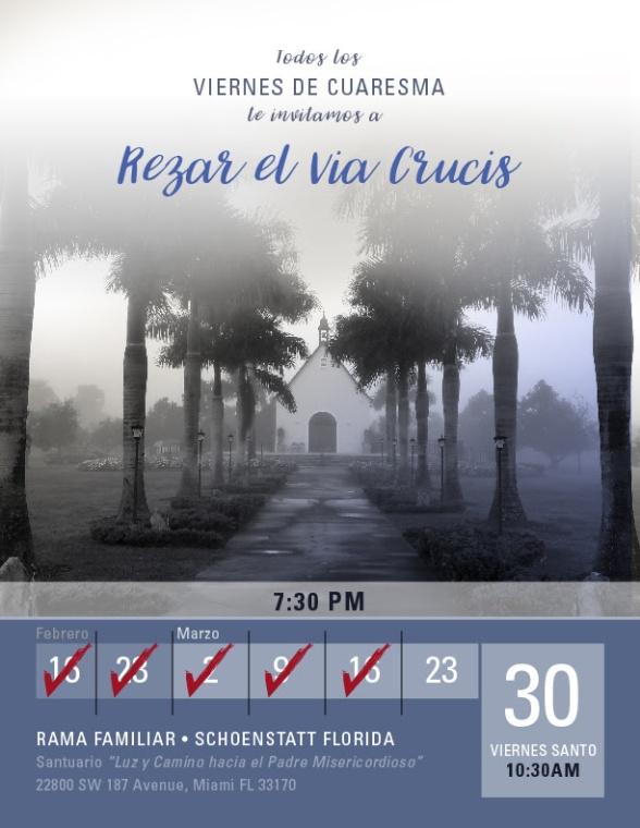 Invitacion Rezar Via Crucis 23 de Marzo