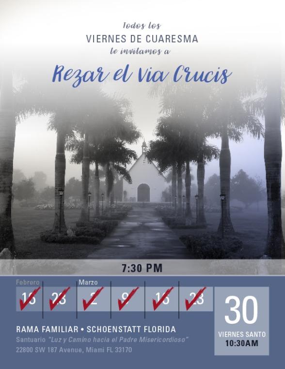 Invitacion Rezar Via Crucis 30 de Marzo