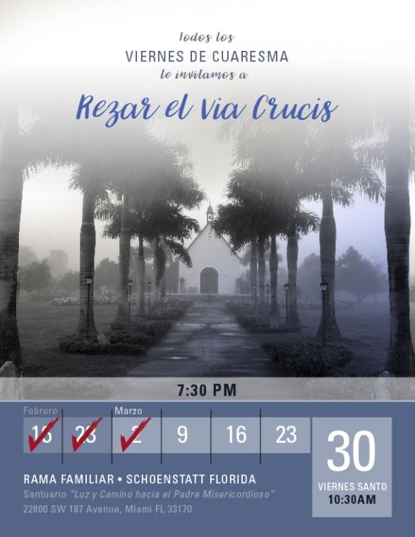 Invitacion Rezar Via Crucis 9 de Marzo