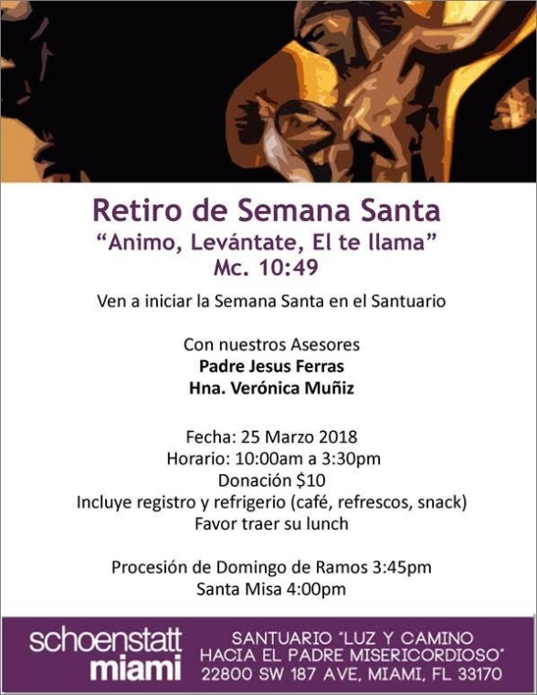 Retiro de Semana Santa 2018
