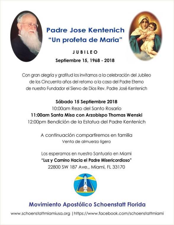 Invitación Celebración Jubileo 50 años