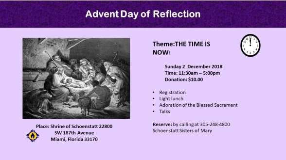 Invitación 2 diciembre 2018 - Day of Advent